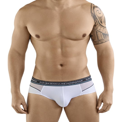 Brief blanco con transparencia clever 5361