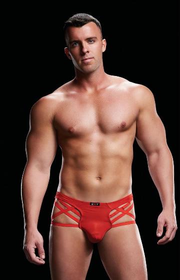 Boxer de tiras rojo con microfibra envi E067
