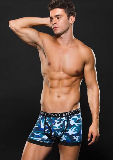 Boxer largo estilo militar azul envy E053