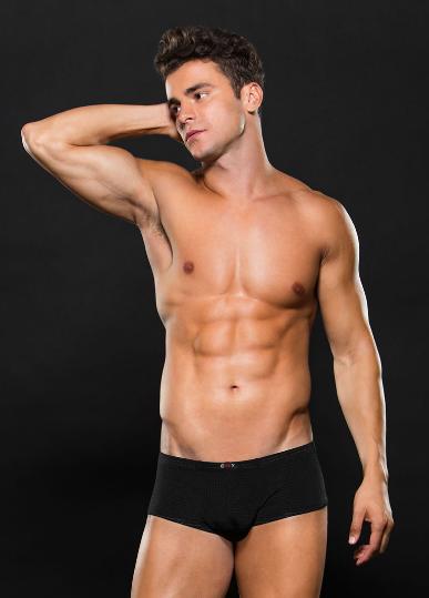 Boxer negro con transparencias envy E060