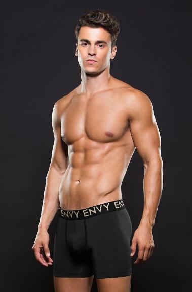 Boxer corte largo negro envy E045