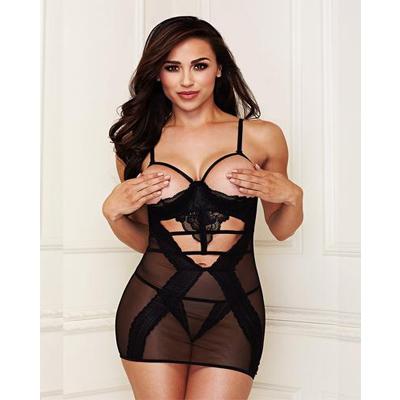 Vestido senos libre con encaje baci