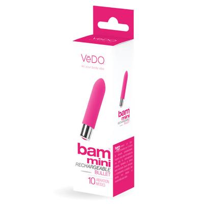 Bala vibradora rosa de forma de labial