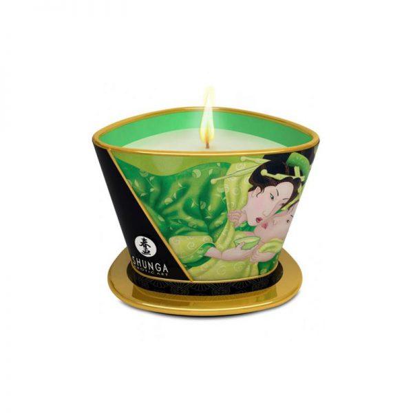 Vela para masajes verde exótico shunga