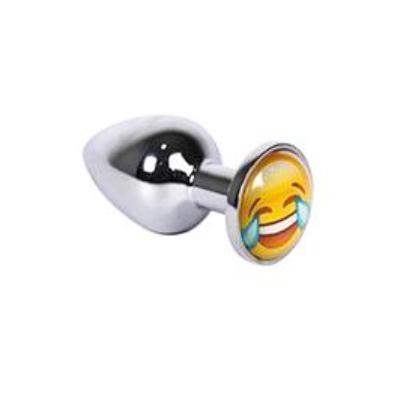Plug anal de emoji riendo de metal