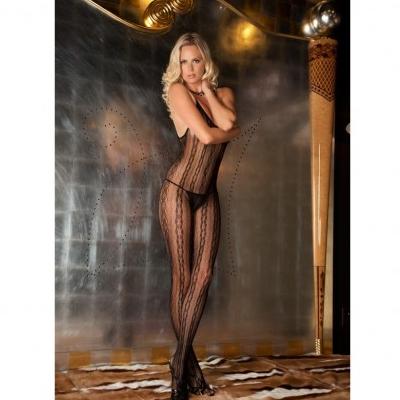 Seductive Lace Bodystoking color Negro