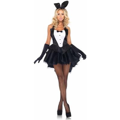Disfraz 83951 de conejita elegante negro y blanco