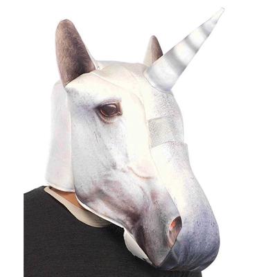 Mascara fantasía de unicornio blanco